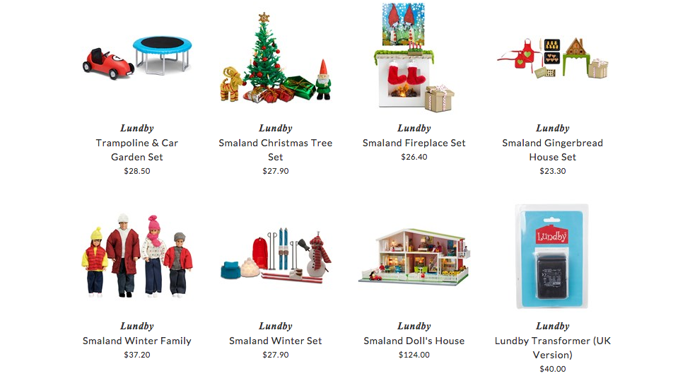 Lundby toys for children