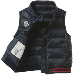4870deb600c Quickview MONCLER Baby Boys Navy Blue  Titouan  Down Padded Gilet2 · Add to  Wishlist loading