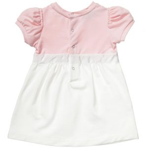 MONCLER Baby Girls Pink Cotton Dress with Knickers1