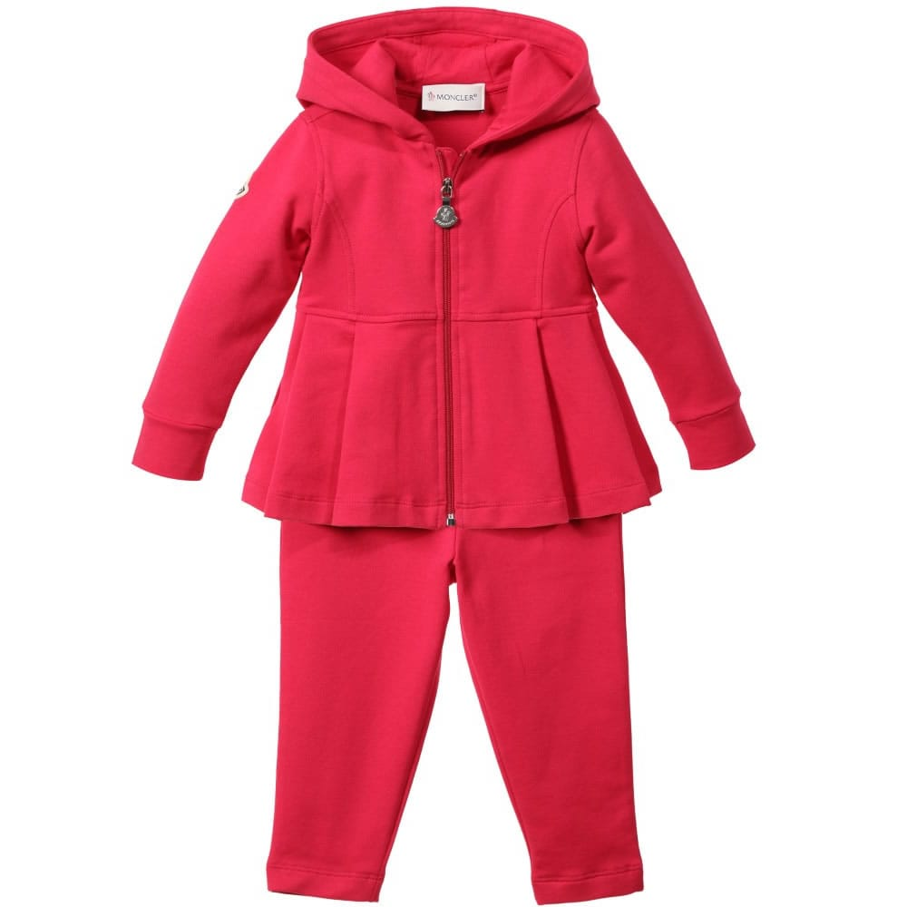 8d07a284c MONCLER Baby Girls Pink Jersey Tracksuit - Children Boutique