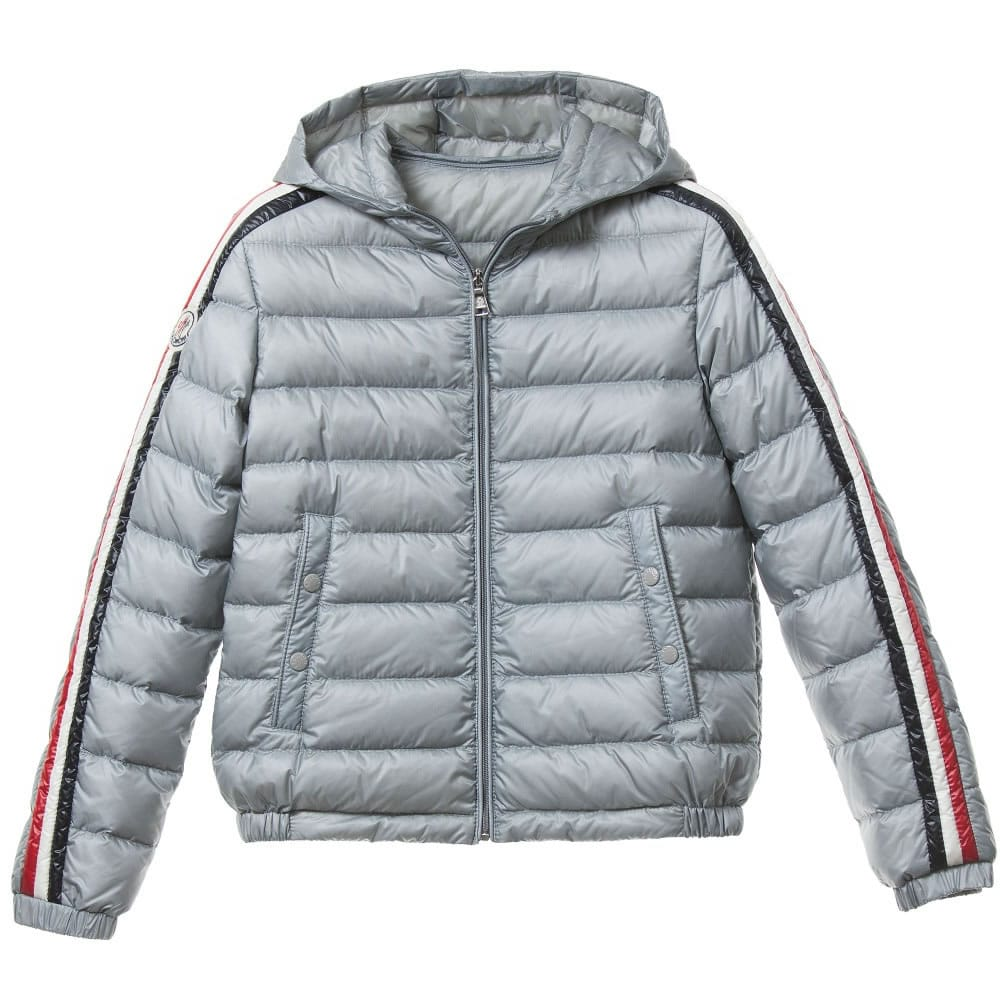 moncler boys grey down 39 chamane 39 puffer jacket children. Black Bedroom Furniture Sets. Home Design Ideas