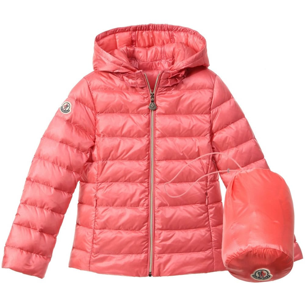 MONCLER Girls Coral Pink Down Padded 'Iraida' Jacket ...