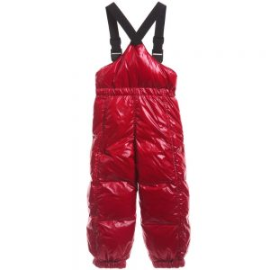 MONCLER Red Down Padded Salopettes1