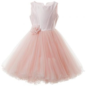 MONNALISA CHIC Couture Pink Silk & Tulle Dress2