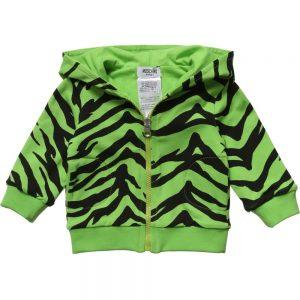 MOSCHINO BABY Unisex Baby Green Tiger Reversible Zip-Up Top