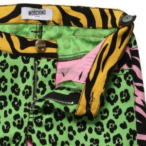 MOSCHINO KID-TEEN Girls Leopard & Tiger Jeans1