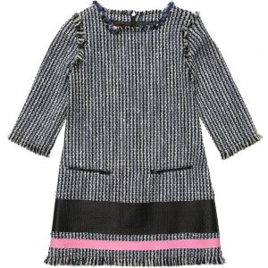 MSGM Black Boucle Weave Dress