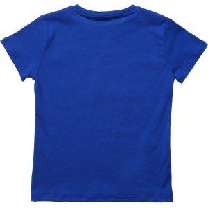 MSGM Boys Bright Blue Logo T-Shirt1
