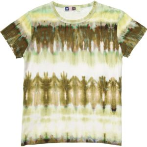 MSGM Boys Green Tie Dye Cotton T-Shirt