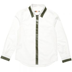 MSGM Boys White Cotton Shirt