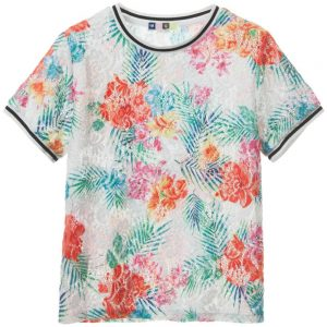 MSGM Girls Stretch Lace Floral Top