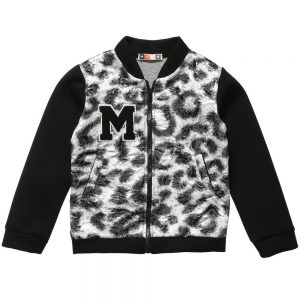 MSGM Lurex Leopard Zip-Up Jacket1