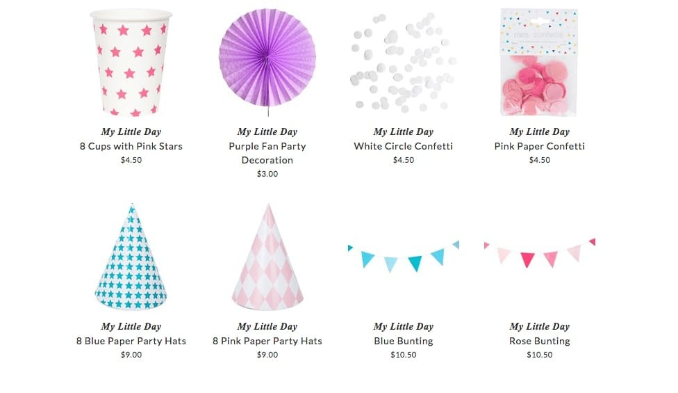 My Little Day decorations for kids parties