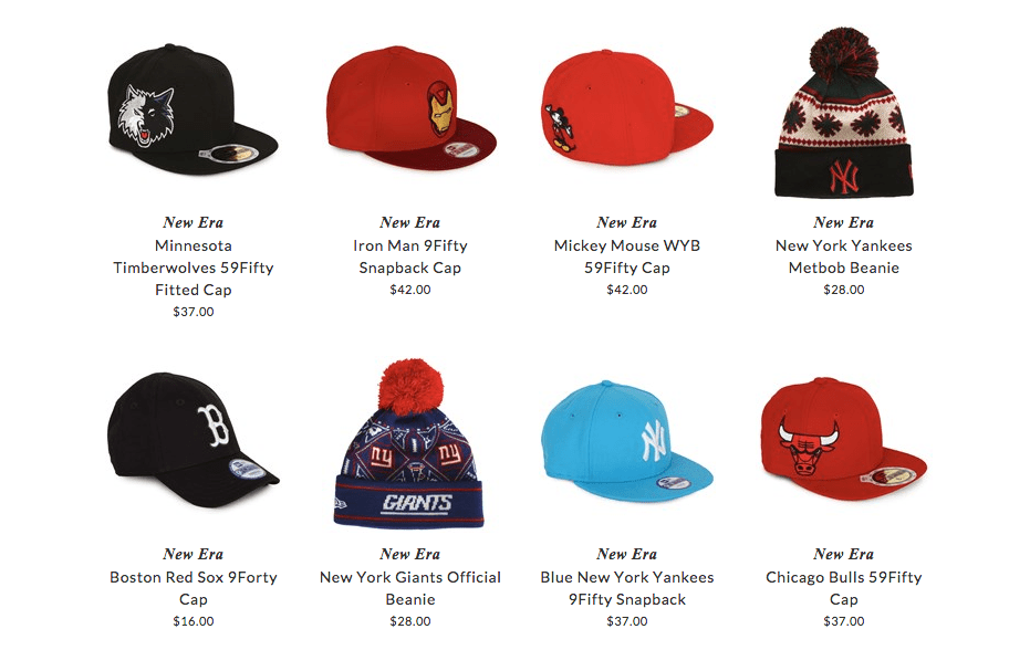 New Era kids hats & caps