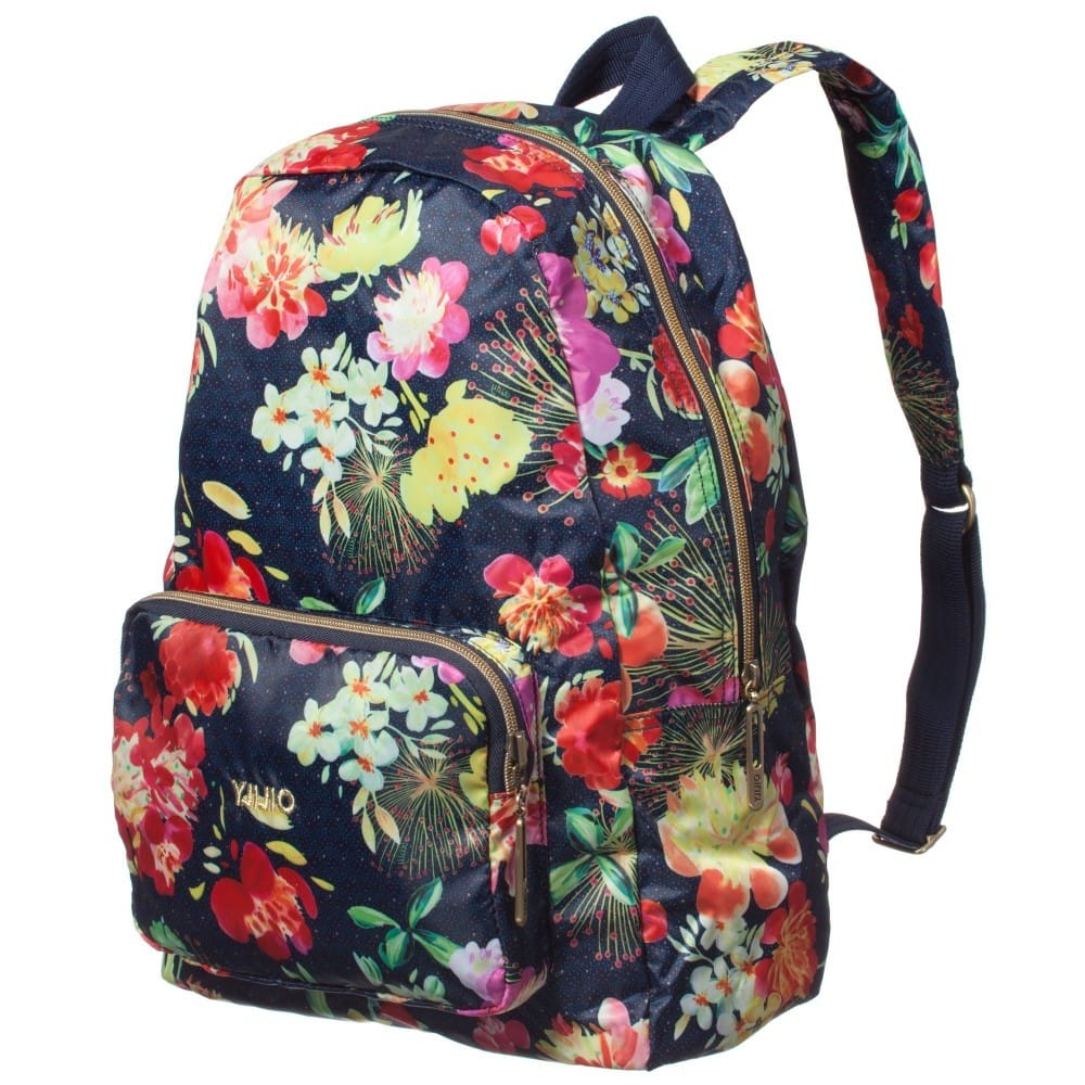 71294b67282 OILILY Blue Tropical Flower Foldaway Backpack (41cm) - Children Boutique