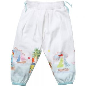OILILY Girls White 'Toyah' Jersey Trousers