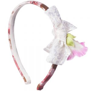 PAESAGGINO Girls Pink Floral Hairband