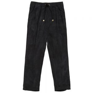 PALE CLOUD Girls Black Trousers With Drawstring Waist