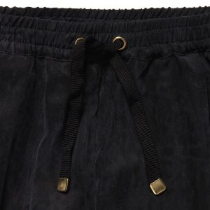 PALE CLOUD Girls Black Trousers With Drawstring Waist1
