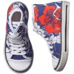 PARROT Girls Blue Printed High-Top Trainers1