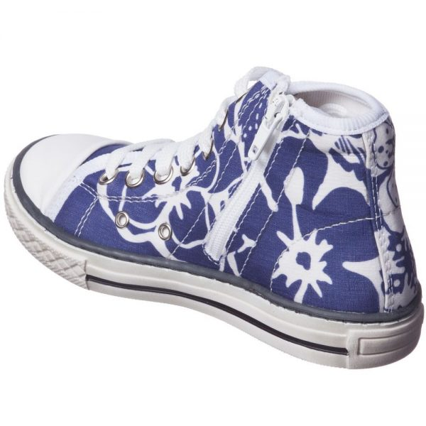 PARROT Girls Blue Printed High-Top Trainers3