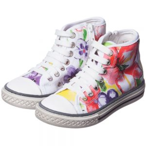 PARROT Girls Printed High-Top Trainers