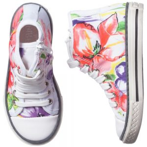 PARROT Girls Printed High-Top Trainers1