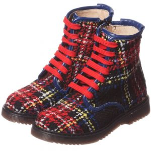 PARROT Tartan Tweed Ankle Boots