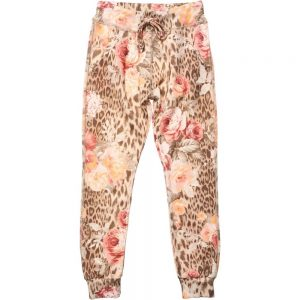 PATRIZIA PEPE Girls Floral and Leopard Jersey Trousers