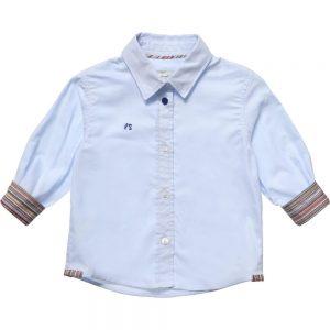 PAUL SMITH JUNIOR Baby Boys Blue 'Hemingway' Shirt