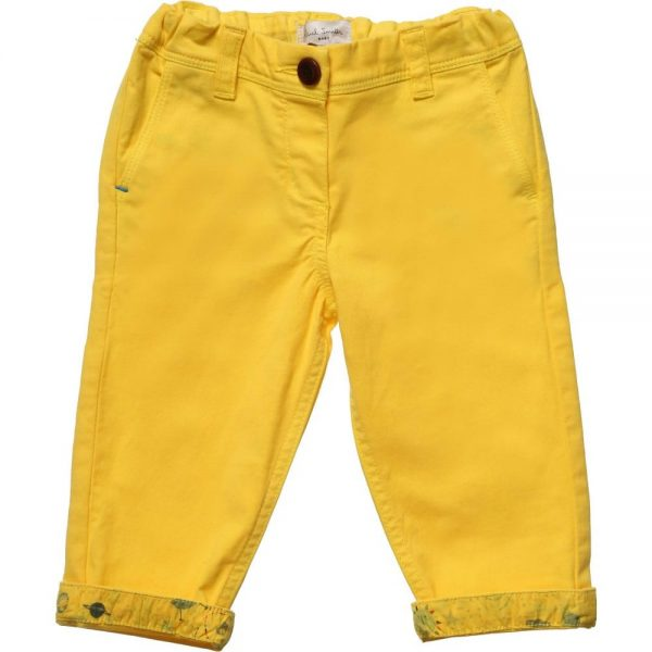 PAUL SMITH JUNIOR Baby Boys Yellow 'Huckleberry' Trousers