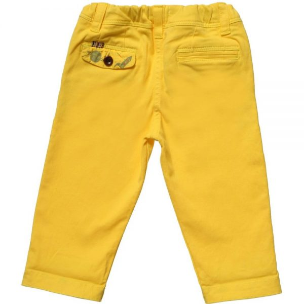 PAUL SMITH JUNIOR Baby Boys Yellow 'Huckleberry' Trousers1