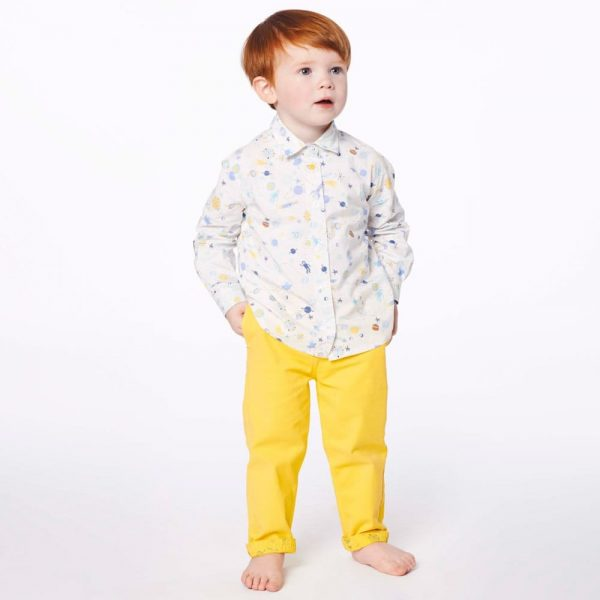 PAUL SMITH JUNIOR Baby Boys Yellow 'Huckleberry' Trousers2