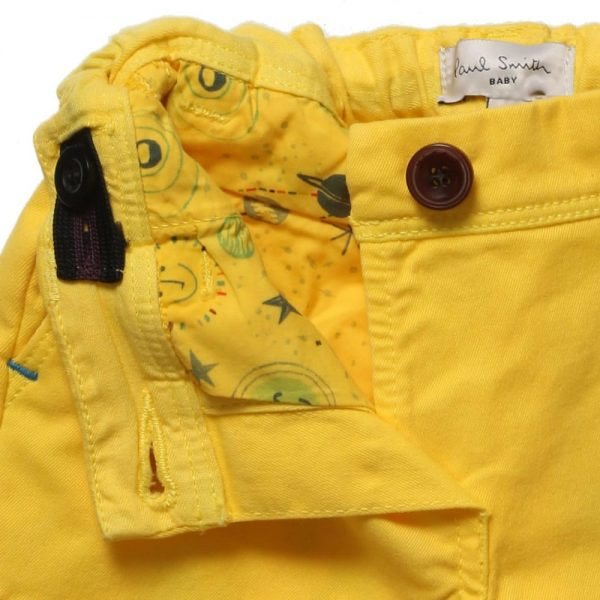 PAUL SMITH JUNIOR Baby Boys Yellow 'Huckleberry' Trousers3