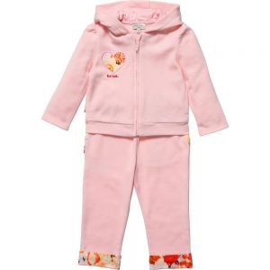 PAUL SMITH JUNIOR Baby Girls Pink 'Hyke' Jersey Tracksuit