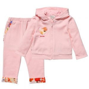 PAUL SMITH JUNIOR Baby Girls Pink 'Hyke' Jersey Tracksuit1