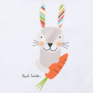 PAUL SMITH JUNIOR Unisex White Rabbit T-Shirt & Rattle Gift Set4