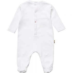 PAUL SMITH JUNIOR White Cotton Babygrow & Dou Dou In A Gift Tin1
