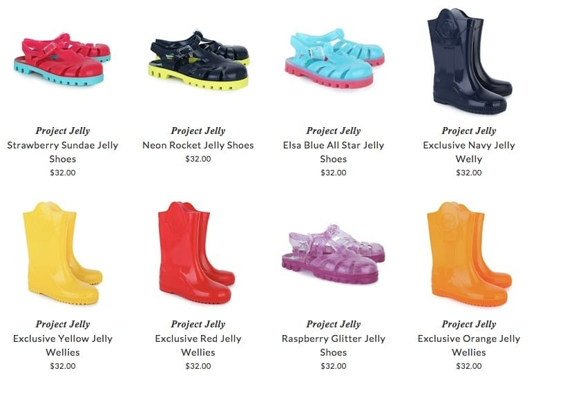Project Jelly children shoes