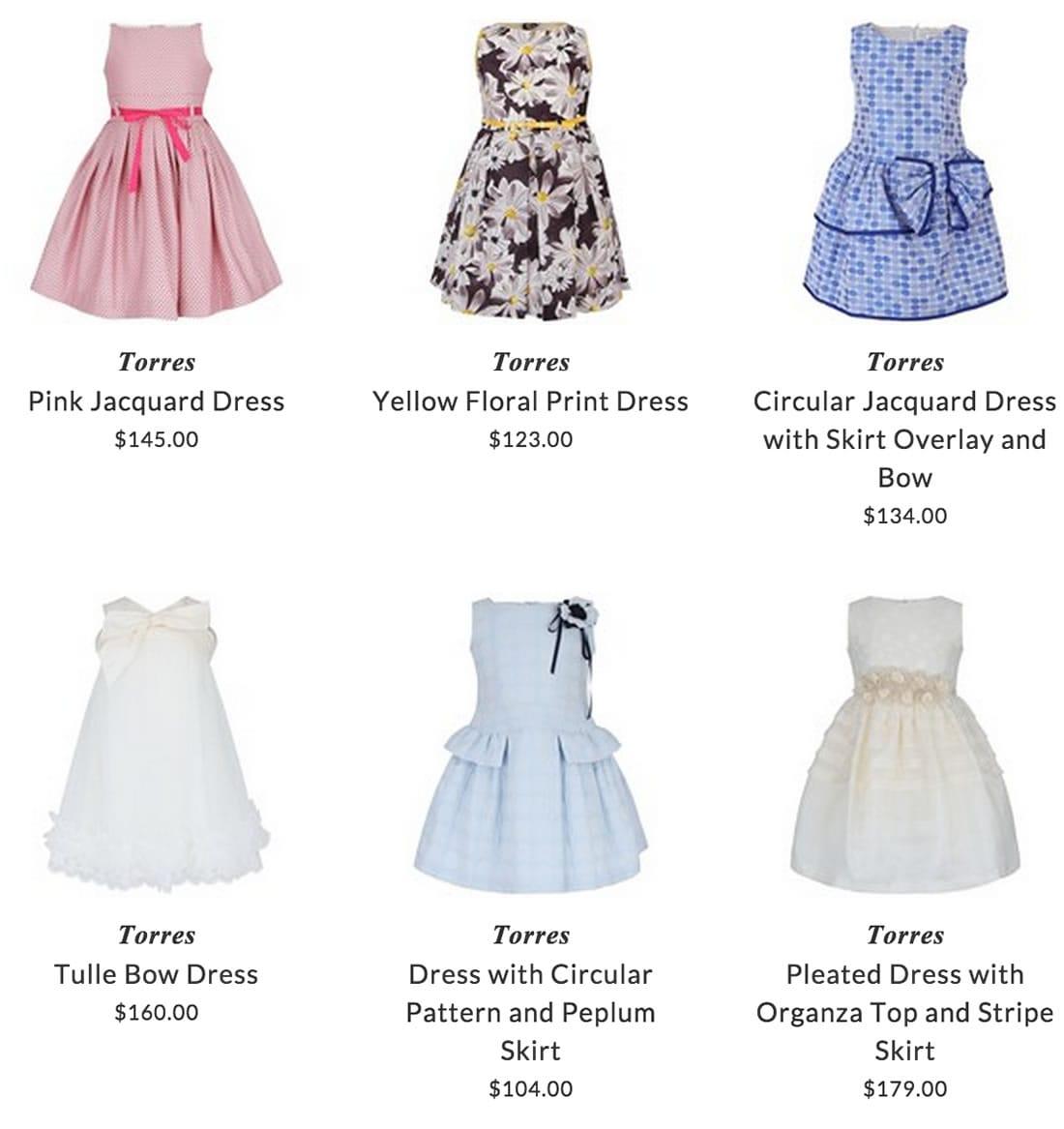 Torres girls clothing