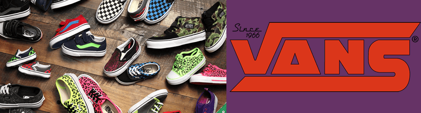 Vans kids clothing, shoes & accessories