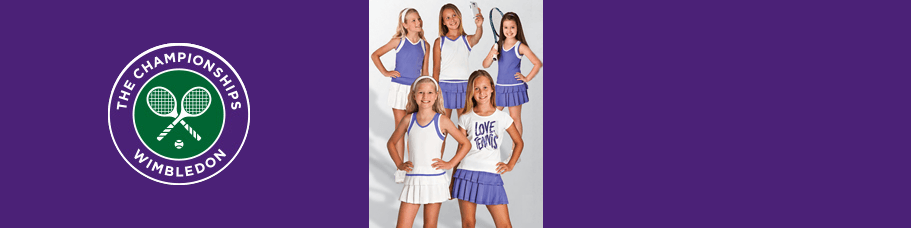Wimbledon kids clothing & accessories for tennis
