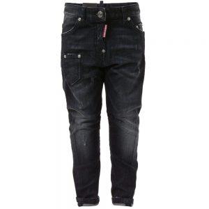 DSQUARED2 Boys Black 'Kenny Twist' Jeans
