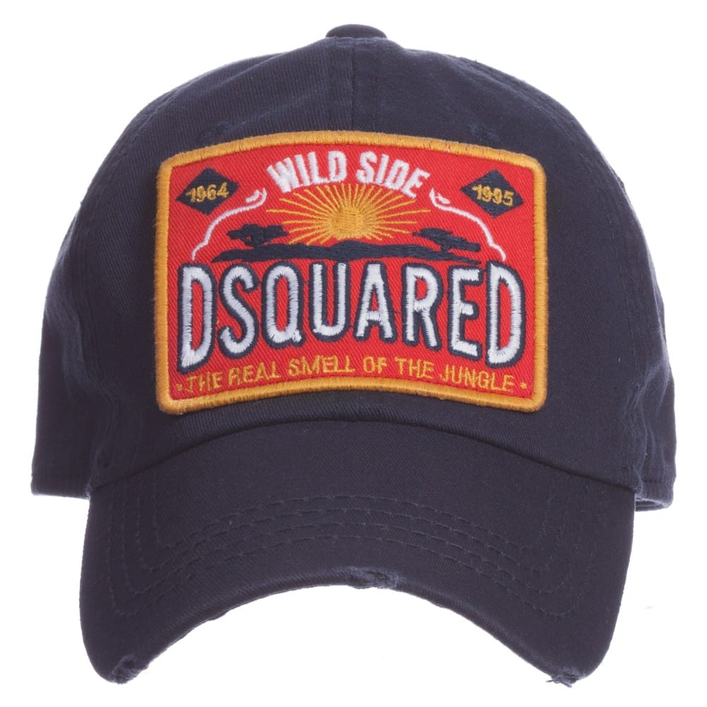 Dsquared2 Boys Navy Blue Logo Baseball Cap Children Boutique