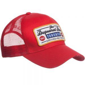 DSQUARED2 Boys Red Logo Baseball Cap
