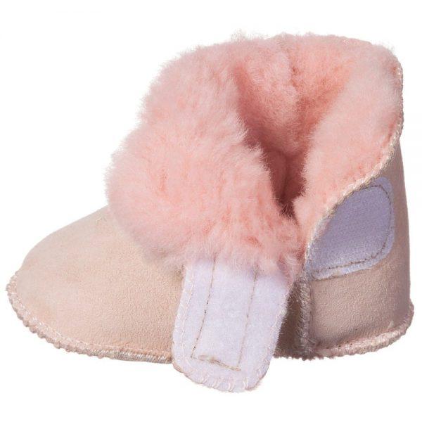EN FANT Pink Pre-Walker Sheepskin Bootees 1