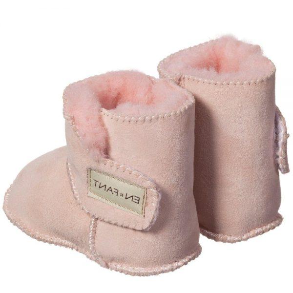 EN FANT Pink Pre-Walker Sheepskin Bootees 4