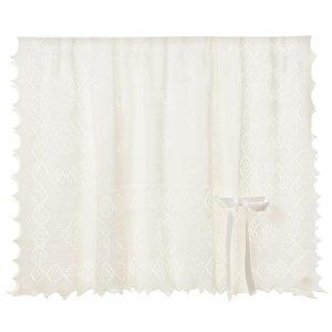 ENGLISH TROUSSEAU Ivory Wool Baby Shawl in a Gift Box 122cm