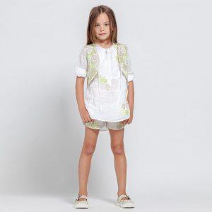 ERMANNO SCERVINO Girls Beige Linen Shorts 1