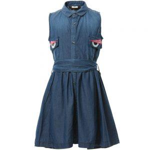 FENDI Blue Chambray Denim Dress